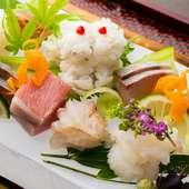 季節ごとの最高の食材を、最も美味しいお料理で