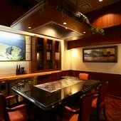 特別感たっぷりのゆったりと落ち着ける個室でお食事できます