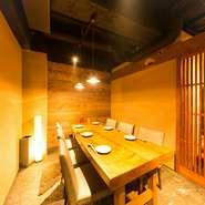 個室は一室なので、大切な会食の際はお早めにお問い合わせください。特別メニューのご希望にお応えいたします。大事なお客様にもきっとご満足いただける「寛げる雰囲気」「美味しい料理」をご提供します。