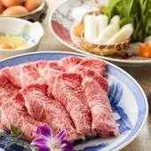食材選びから調理法まですべては米沢牛の旨さを引き立てるため