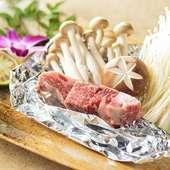 米沢牛に芳醇さを纏わせた『牛フィレ きのこホイル焼き』