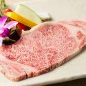 米沢牛の味、食感を堪能するなら『サーロイン厚焼き(フィレ)』