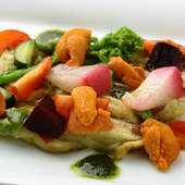 お野菜を使ったカルパッチョもおすすめ『茄子のカルパッチョ』