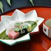 他では食べられないものも多く使われている様々な懐石料理