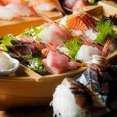 富山湾の鮮魚をお刺身で