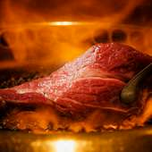 「松阪牛」を炭火で焼肉