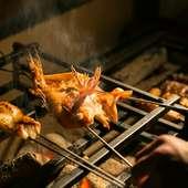 素材に合った焼き加減、焼きの職人自慢の炭火焼