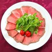 贅沢な牛肉の様々な部位の美味しさを満喫! 至福のひとときに