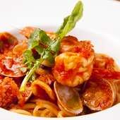 海鮮とトマトの旨みがギュッと詰まった 『ペスカトーレ』