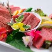 5種の和牛が一度に味わえる『厳選牛堪能ディッシュ』