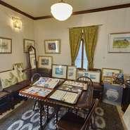 陶芸家で地元出身の板谷波山先生(文化勲章受章者)の生涯を描いた映画「HAZAN」のロケが行なわれていました。写真や資料がおかれた部屋もあります。