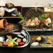 『杜若コース 1万円』は季節の味覚を存分に味わえる
