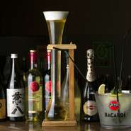 ◆おつまみ2品付  ◆飲み放題90分:2000円(ビールなし)  ※プラス500円でビールもOK