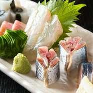 旬のお刺身など季節のお料理でおもてなしいたします。
