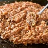 明太子とチーズが人気の組み合わせ、もんじゃ焼き『明太チーズ』
