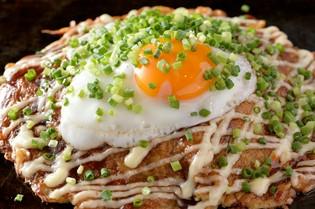 こだわりの食材で焼き上げた広島焼き『豚ねぎ焼き』