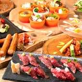 大満足!こだわりの赤身肉料理の数々