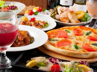新年会、お誕生日や記念日などの特別な日に、3時間飲み放題付きスペシャルコース。