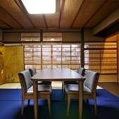 2階のプライベートな個室