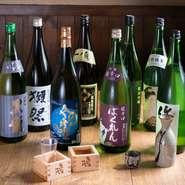 人気の定番銘柄から、一風変わった銘酒まで準備!辛口が苦手な方にはまったりな口当たりの甘口もご用意!新鮮な魚には日本酒がほんとによく合います!