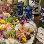 料理長厳選。新鮮な魚介をふんだんに盛り込んだ『刺盛り』で、旬の旨みを味わい尽くす