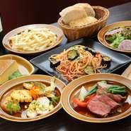 季節ごとに内容が変わるパーティープランは、人気の料理がセットされ、とてもおトクな内容です。シェフ手作りの料理の数々を味わうことができます。男性にも女性にも好評です。