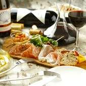 気の置けない仲間と集まって、美味しいワインと料理に舌鼓