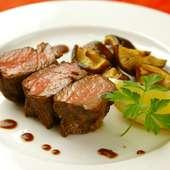 噛みしめるほどに肉の旨みが広がる『菊池農場の「あか牛」のロースト』