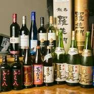 紀州の名水で醸された『黒牛』、爽快な飲み口と香りの『羅生門』など、和歌山の名だたる銘酒を取り揃えました。コース料理には飲み放題もお付けできるので、囲炉裏を囲んでの宴会も盛り上ります。