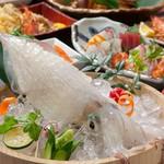もつ鍋or秋鮭の酒粕小鍋からお選び頂ける、秋涼の宴コース。※写真はイメージです。