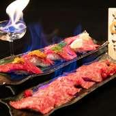 炎々なる圧巻の演出!焔立つ肉寿司