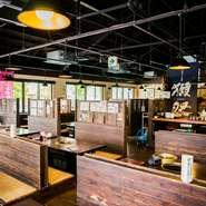 広々とした店内は最大100名まで収容可能。石垣牛KINJOBEEFを使ったコース料理、セットメニューなどもあり、少人数から多人数までシーンに合わせて利用できます。ちょっとした集まりや歓送迎会などにもオススメです。