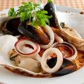 季節のパスタ『宮城県産カキと魚介を使ったペスカトーレ』