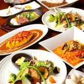 和食から洋食の定番メニューまで日替わりの『ランチ』