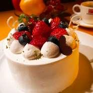 大切な方へのお祝いの食事をお手伝いさせていただきます。 メッセージプレートやバースデーケーキ(有料)もご用意できます。