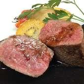 黒毛和牛和牛モモ肉のアラグリッリア