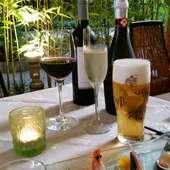 ビールやスパークリングワインなどの飲み放題と礼華のお勧め料理がセットになったスペシャルプラン