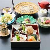 旬の味を楽しむ  季節膳 奈川産十割蕎麦【限定15食】