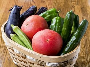 自家製野菜、安心・安全な駒ヶ岳山麓豚など、地元食材を地産地消
