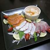 大皿料理の一品『カルパッチョ』