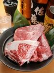 コース内容の中に炭焼き近江牛がプラスされたお得なコース。 その他の料理もランクアップしています。
