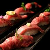 肉寿司盛り合わせ『上』五貫盛り