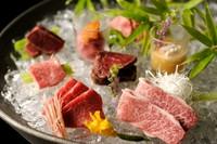 松坂牛と飛騨牛の厳選部位の食べ比べが楽しめる土日祝日限定ランチコース!  ※画像はイメージです。