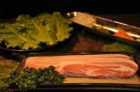 豚バラ・サンチュ・野菜付け合わせ
