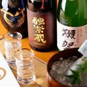 こだわりの純米系日本酒は奥様がセレクト