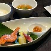 鮭の自家製西京漬け炭火焼き
