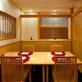 洗練された個室と品格のあるお料理で、大切な方をおもてなし