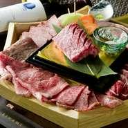 ご宴会にぴったりのコース料理は5000円~ご用意をしております。美味しい山形牛をたっぷりと堪能いただけます。ドリンクの種類豊富な飲み放題も別途承っておりますので、たくさん飲んで盛り上がってください!