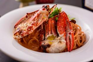 蟹甲殻類独自の旨みがギュッと詰まった『渡蟹のスパゲッティ』