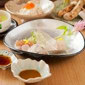 瀬戸内の旬魚、鮮度と旨みを引きだした『お刺身盛合せ』